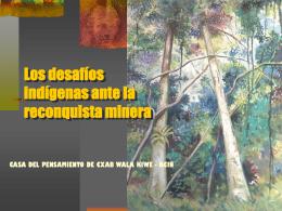Territorio y minería en territorios indígenas Diplomado UAIIN 2010