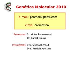 Clase_DNA_1_VR - Genética Molecular