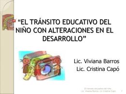 El tránsito Escolar en Niños con Trastornos del Neurodesarrollo