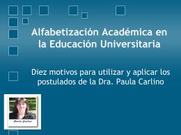 Alfabetización Académica en la Educación Universitaria
