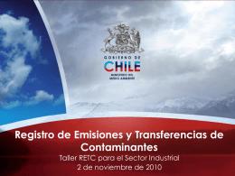 ¿Qué es un RETC? - Ministerio del Medio Ambiente