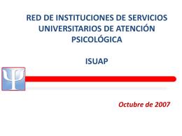 Presentación encuentro - octubre de 2007