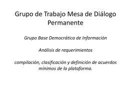 Presentación AVINA - Mesa de Diálogo Permanente