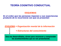 PPT 8: Teoria Cognitivo Conductual