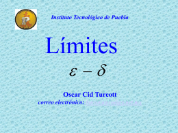 Monografias : El concepto de limite de funciones lineales, usando