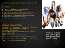 publicidad promocion entrenamiento