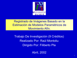 Extracción de Modelos Paramétricos de Movimiento Afín