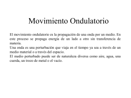 CLASE 13. MOVIMIENTO ONDULATORIO