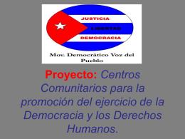 Centros Comunitarios para la promoción del ejercicio