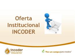incoder oferta institucional