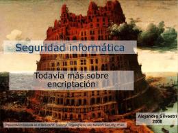 Seguridad informática - Encirptación múltiple