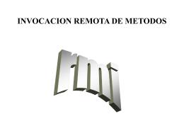 INVOCACION REMOTA DE METODOS