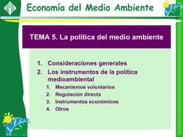 5.2. Instrumentos de la política medioambiental