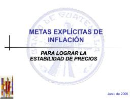 POLÍTICA MONETARIA - Banco de Guatemala