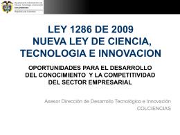 Conpes 3582: Política Nacional de Ciencia, Tecnología e Innovación