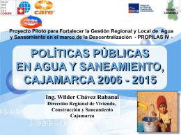Políticas Regionales en Agua y Saneamiento en la Región Cajamarca