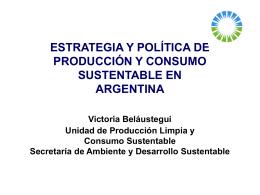 ESTRATEGIA Y POLÍTICA DE PRODUCCIÓN Y CONSUMO
