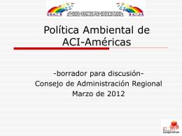 Política Ambiental de ACI-Américas