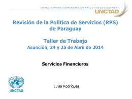 Revisión de la Política de Servicios (RPS) de Nicaragua Taller de
