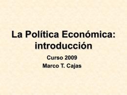 La Política Económica: introducción