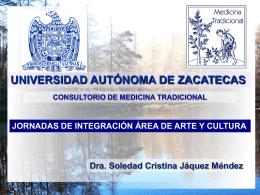 Dra. Jáquez presentacion integracion AyC