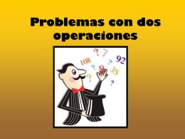Problemas con dos opraciones