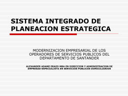 sistema integrado de planeación estratégica - inicio