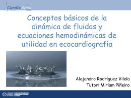 Conceptos básicos de la dinámica de fluidos y