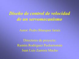 Diseño de control de velocidad de un servomecanismo