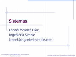 Sistemas - Ingeniería Simple