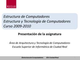 Diapositiva 1 - Escuela Superior de Informática (UCLM)