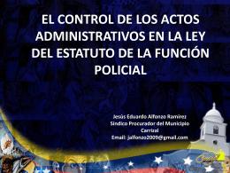 control de los actos en la funcion policial