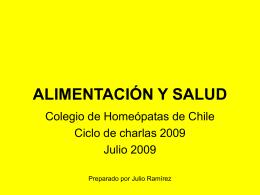 Alimentacion-Final - Colegio de Homeópatas de Chile AG