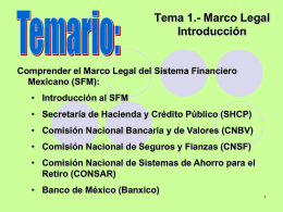 Marco Legal.-