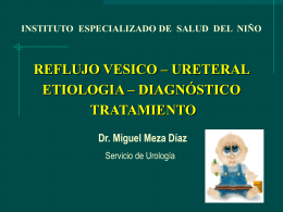 UROPEDIATRIA - 4to reflujo vesico