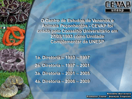 8-Relatório do desempenho do CEVAP.