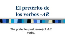 El Pretérito - Cuaderno Espanol