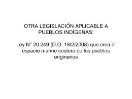 Otra legislación aplicable a pueblos indígenas