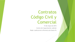 Contratos Código Civil y Comercial - Poder Judicial de la Provincia