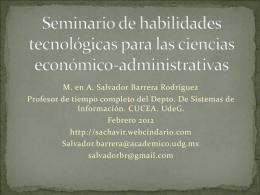 Seminario de habilidades tecnológicas para las ciencias económico