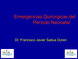 Emergencias quirurgicas neonatales