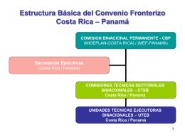 Estructura del Convenio Fronterizo Costa Rica