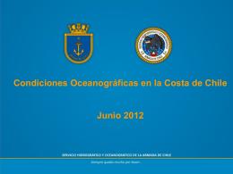 Anomalía de TSM (°C) en la costa de Chile