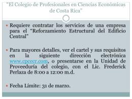 """""""El Colegio de Profesionales en Ciencias Económicas de Costa Rica"""""""