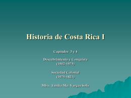 Historia de Costa Rica I