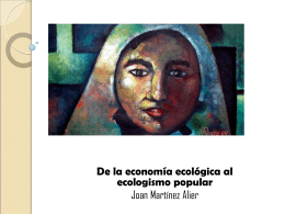 Seminario 5. De la economía ecológica al ecologismo popular