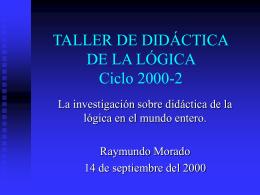 Versión en PowerPoint - Instituto de Investigaciones Filosóficas