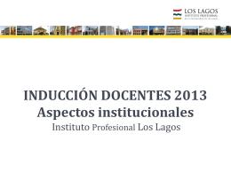 Inducción Docentes aspectos institucionales