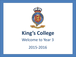 Key Stage 1 - King`s College