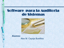 Software Para Auditora De Sistemas